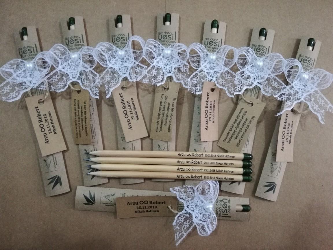 Nikah Düğün Hediyesi Çiçek Açan Tohumlu Kalem 05417985133 Tohumlu Sevgi Kalemi ®